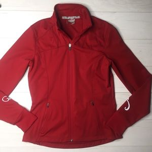 Athleta Shell jacket Red Sz XS lightweight decals